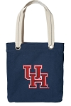 University of Houston Tote Bag RICH COTTON CANVAS Navy
