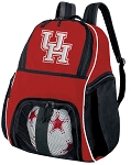 University of Houston Soccer Backpack or UH Volleyball Practice Bag Red Boys or Girls