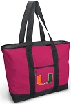 Deluxe Pink University of Miami Tote Bag
