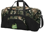 Official UNCC Camo Duffel Bags or UNC Charlotte Gym Bags