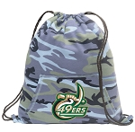 UNCC Drawstring Backpack Blue Camo