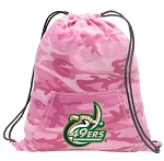 UNCC Drawstring Backpack Pink Camo