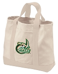 UNCC UNC Charlotte Tote Bags NATURAL CANVAS