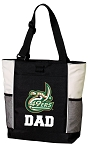 UNC Charlotte Dad Tote Bag White Accents