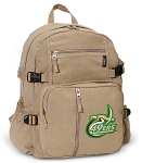 UNCC Canvas Backpack Tan