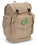 UNCC LARGE Canvas Backpack Tan
