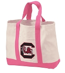 University of South Carolina Tote Bags Pink