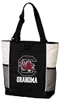 University of South Carolina Grandma Tote Bag White Accents