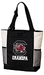 University of South Carolina Grandpa Tote Bag White Accents