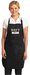 Official Naval Academy MOM Apron Black