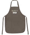 Official Navy Dad Apron Tan
