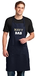 LARGE Naval Academy Father Apron USNA DAD Gift