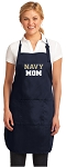 Official Naval Academy MOM Aprons Navy