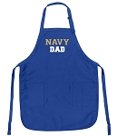 Deluxe Navy DAD Apron Naval Academy Dad for Men or Women