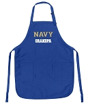 Deluxe Navy Grandpa Apron Naval Academy Grandpa for Men or Women