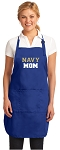 Deluxe Navy MOM Apron Naval Academy Mom for Men or Women