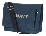 Naval Academy Messenger Bags STYLISH WASHED COTTON CANVAS Blue