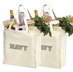 Naval Academy Shopping Bags USNA Navy Grocery Bags 2 PC SET
