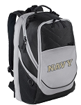 Deluxe Naval Academy Computer Backpack Black & Gray