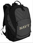 Deluxe Naval Academy Computer Backpack Black
