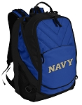 USNA Navy Backpack with Computer Section Blue