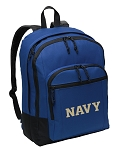 USNA Navy Backpack CLASSIC STYLE Blue