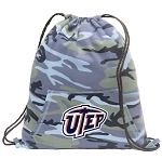 UTEP Miners Drawstring Backpack Blue Camo