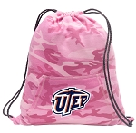 UTEP Miners Drawstring Backpack Pink Camo