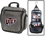 UTEP Miners Toiletry Bag or UTEP Shaving Kit Organizer for Him Gray