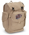 UTEP Miners LARGE Canvas Backpack Tan