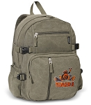 UVA Peace Frog Canvas Backpack Olive