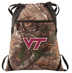 Virginia Tech RealTree Camo Cinch Pack