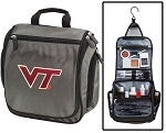 Virginia Tech Toiletry Bag or Virginia Tech Hokies Shaving Kit Organizer for Him Gray
