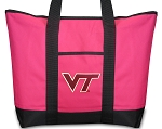 Deluxe Pink Virginia Tech Hokies Tote Bag