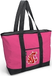 Deluxe Pink Washington State University Tote Bag