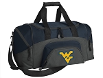 SMALL West Virginia University Gym Bag WVU Duffle Navy