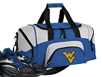 SMALL West Virginia University Gym Bag WVU Duffle Blue