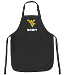 Official West Virginia University Grandpa Apron Black