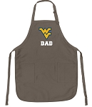 Official WVU Dad Apron Tan