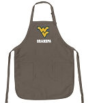 Official WVU Grandpa Apron Tan