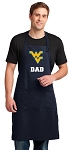 West Virginia University Dad Apron LARGE Navy