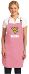Deluxe West Virginia University Mom Apron Pink - MADE in the USA!