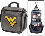 WVU Toiletry Bag or West Virginia University Shaving Kit Organizer for Him Gray