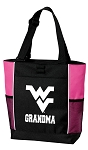 West Virginia University Grandma Tote Bag Pink