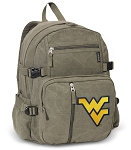 West Virginia Canvas Backpack Olive