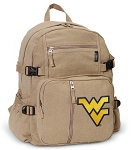 West Virginia Canvas Backpack Tan