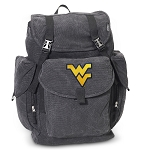 WVU LARGE Canvas Backpack Black