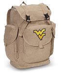 West Virginia LARGE Canvas Backpack Tan