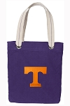 Tennessee Vols Tote Bag RICH COTTON CANVAS Purple