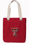 Texas Tech Tote Bag RICH COTTON CANVAS Red